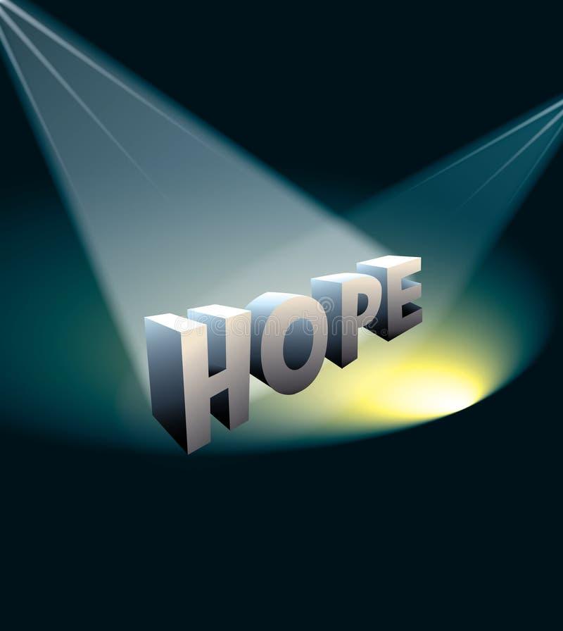 Luz da esperança ilustração do vetor