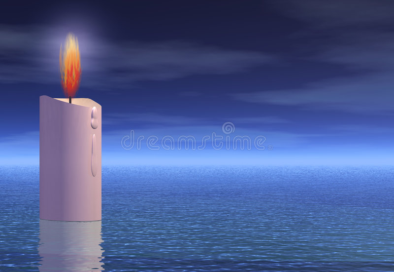 Luz da esperança ilustração stock