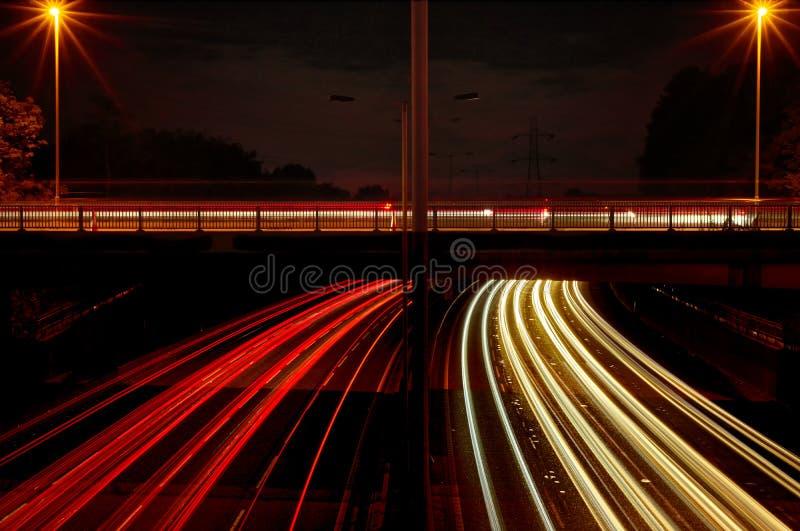 A luz da estrada arrasta o Reino Unido fotos de stock