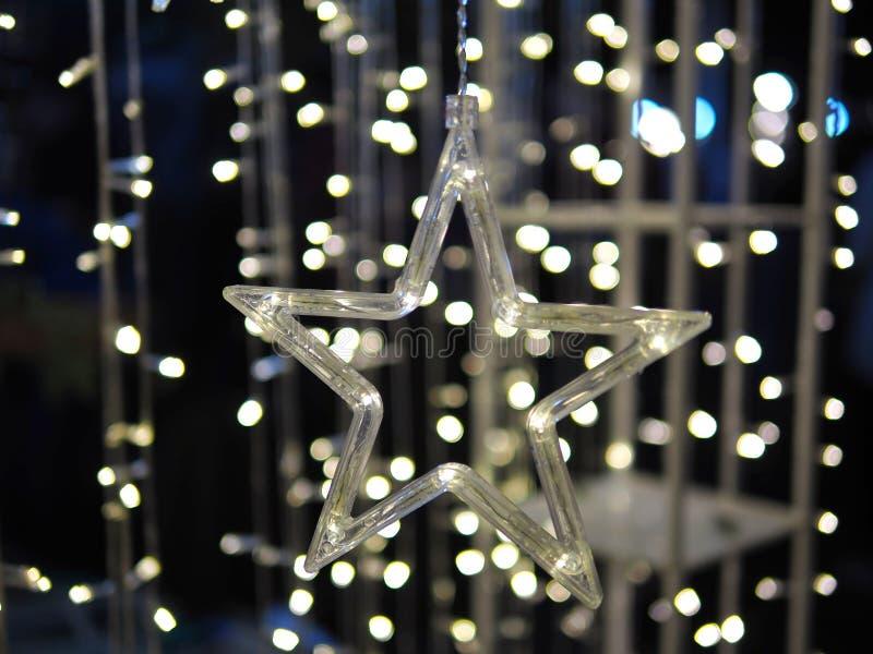 Luz da estrela e fundo de Bokeh foto de stock