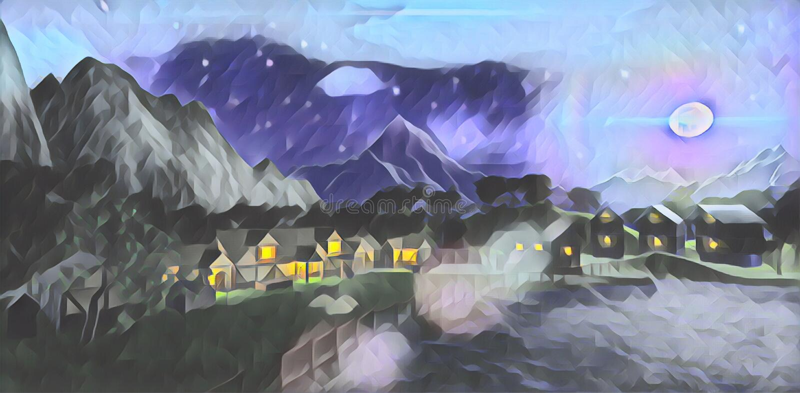 A luz da lua da noite ilustração stock