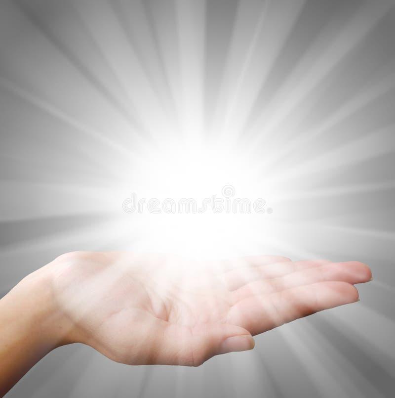 Luz da mão fotografia de stock royalty free