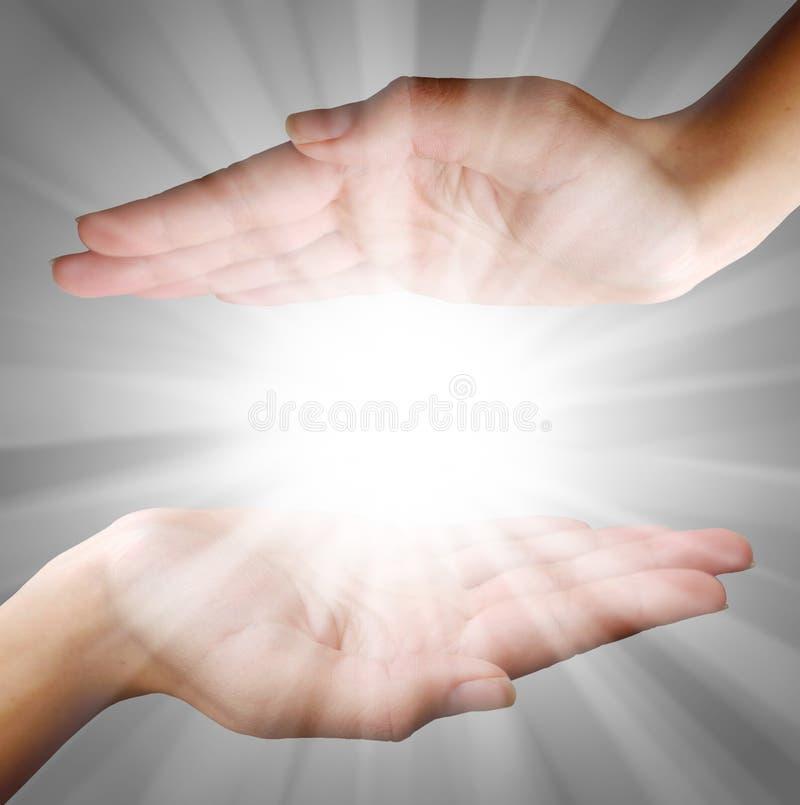 Luz da mão foto de stock royalty free