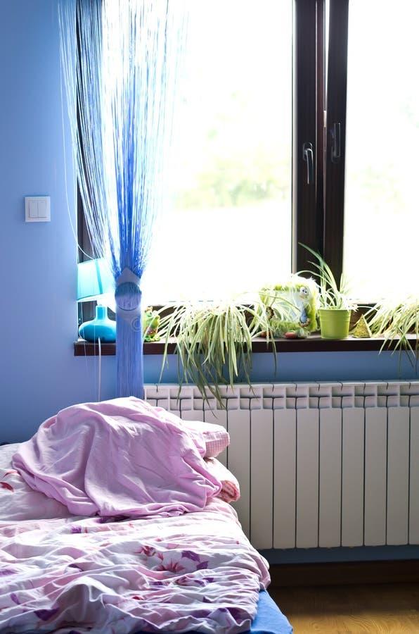 Luz da manhã no quarto fotografia de stock