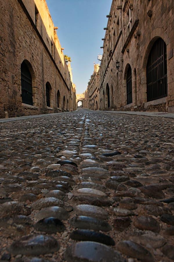 Luz da manhã nos godos na avenida dos cavaleiros fotografia de stock