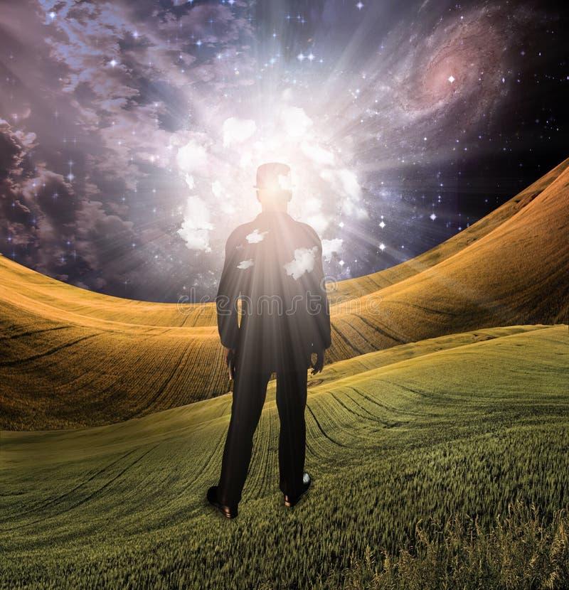 Luz da mente ilustração do vetor