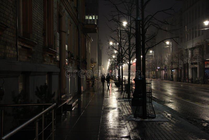 Luz da noite da cidade imagem de stock royalty free