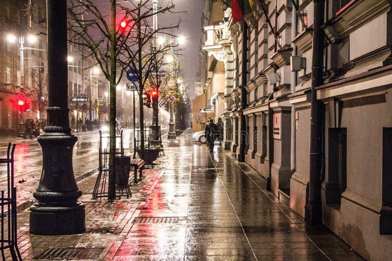 Luz da noite da cidade imagens de stock