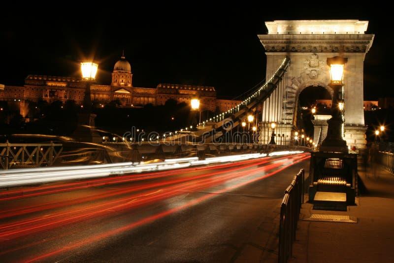 Luz da noite em budapest. fotografia de stock royalty free