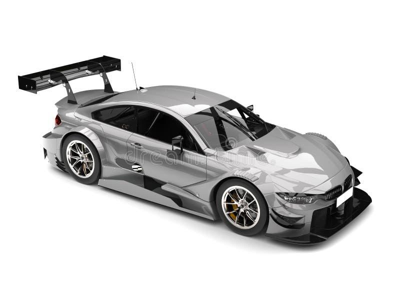Luz - da parte superior tiro automobilístico super moderno cinzento da beleza para baixo ilustração stock