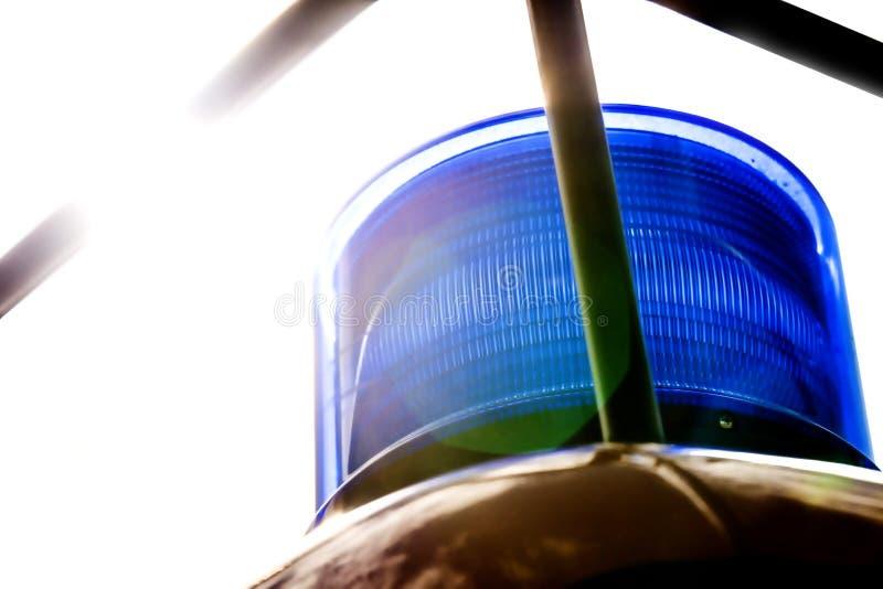 Luz da sirene de um caminhão do sapador-bombeiro alemão fotografia de stock royalty free