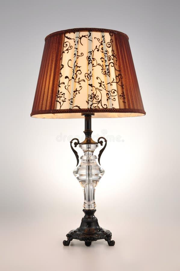 Luz da tabela da lâmpada de mesa imagem de stock royalty free