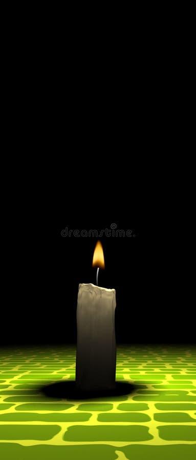 Luz da vela ilustração do vetor