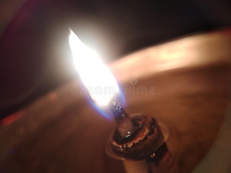 Luz da vela foto de stock