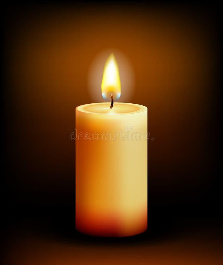 Luz da vela da igreja ilustração stock