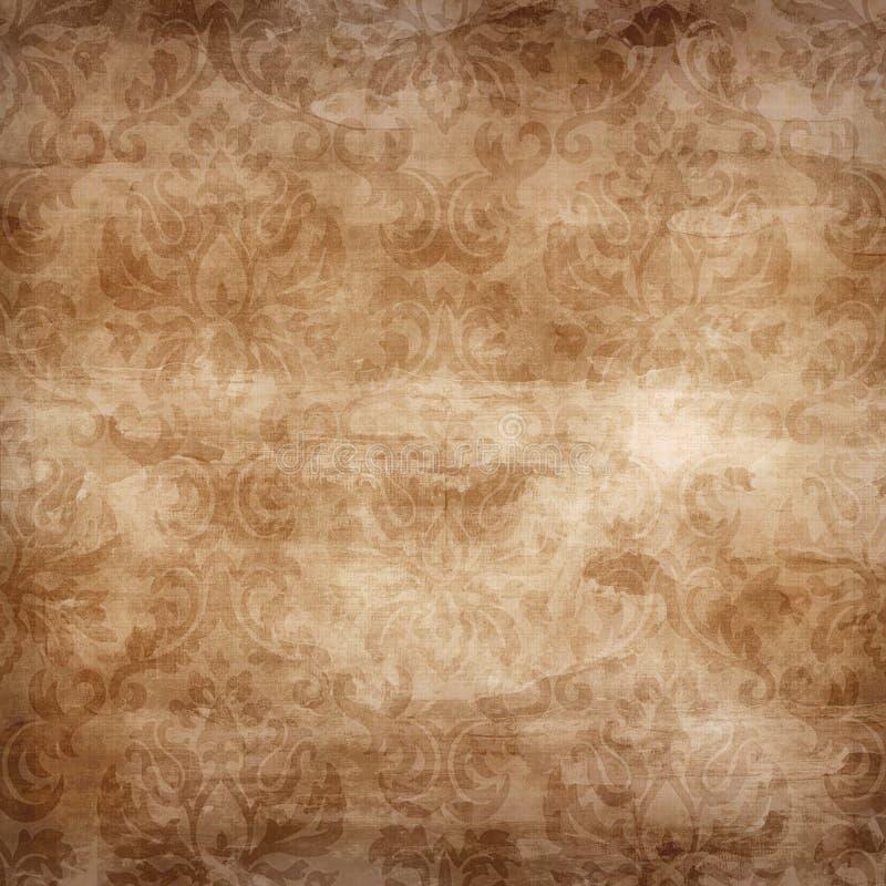 Luz - damasco marrom sem emenda ilustração stock