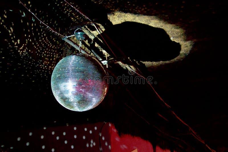 Luz das bolas do espelho do disco fotos de stock