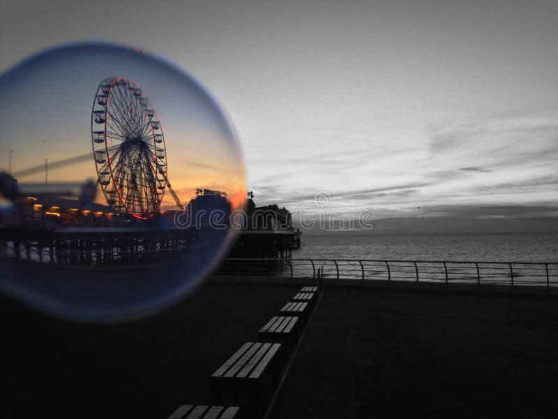 Luz de Blackpool con un diferente y un x27; light& x27; foto de archivo
