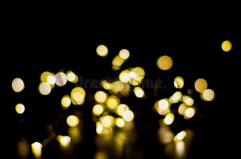 Luz de Bokeh na noite imagem de stock royalty free