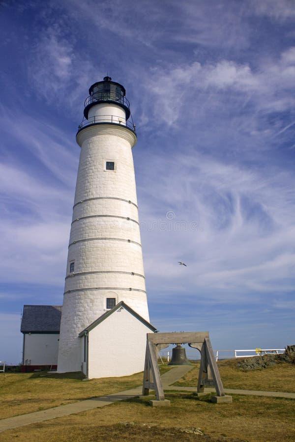 Luz de Boston, puerto de Boston imagen de archivo libre de regalías