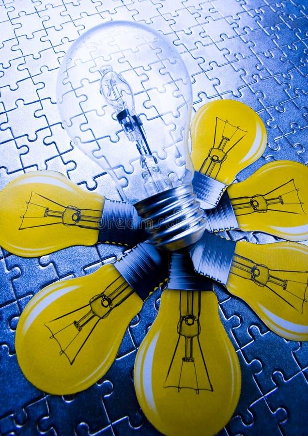 Luz de bulbo fotografía de archivo