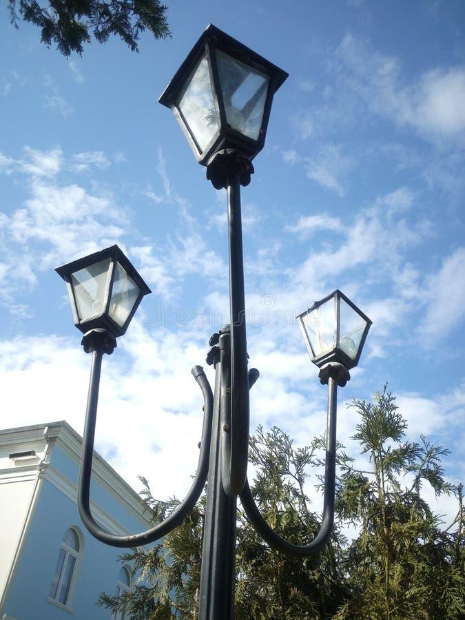 Luz de calle antigua fotos de archivo