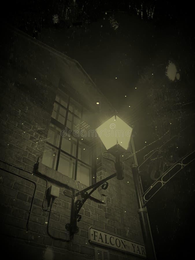 Luz de calle espeluznante 1 foto de archivo libre de regalías