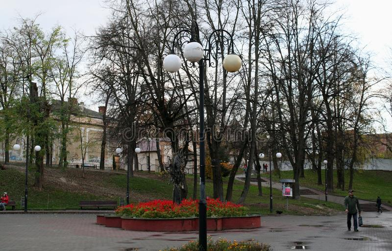 Luz de calle Ivano-Frankivsk imágenes de archivo libres de regalías