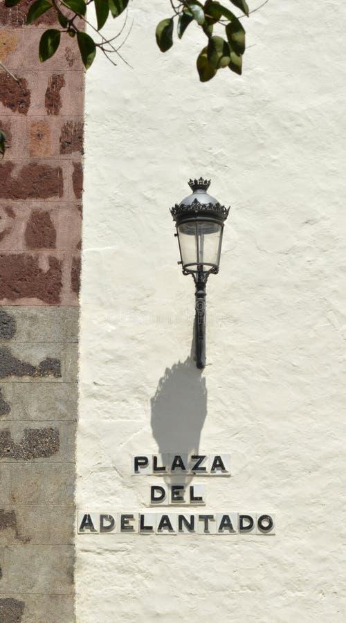 Luz de calle La Laguna Tenerife fotografía de archivo libre de regalías