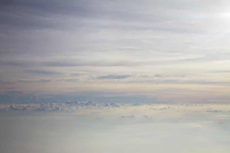 Luz de cielo en un avión fotos de archivo libres de regalías