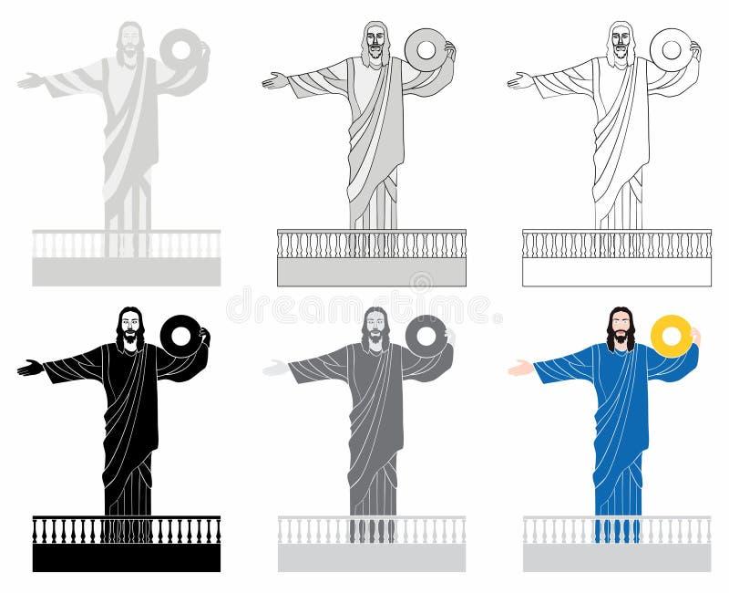 Luz de Cristo del camboriu de Balneario stock de ilustración
