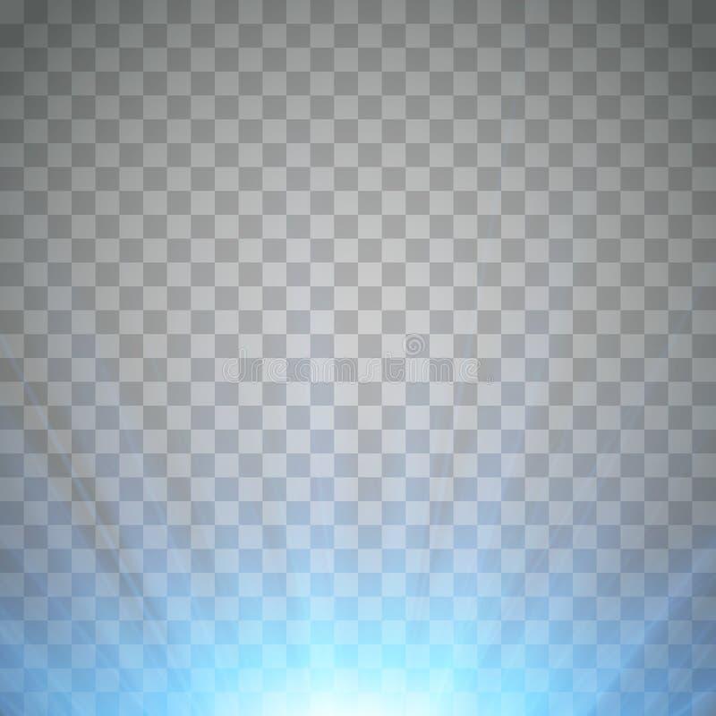 Luz de destello azul Proyector frío con los rayos Vector libre illustration