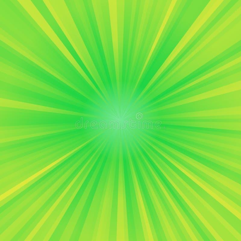 Luz de destello verde y amarilla ilustración del vector