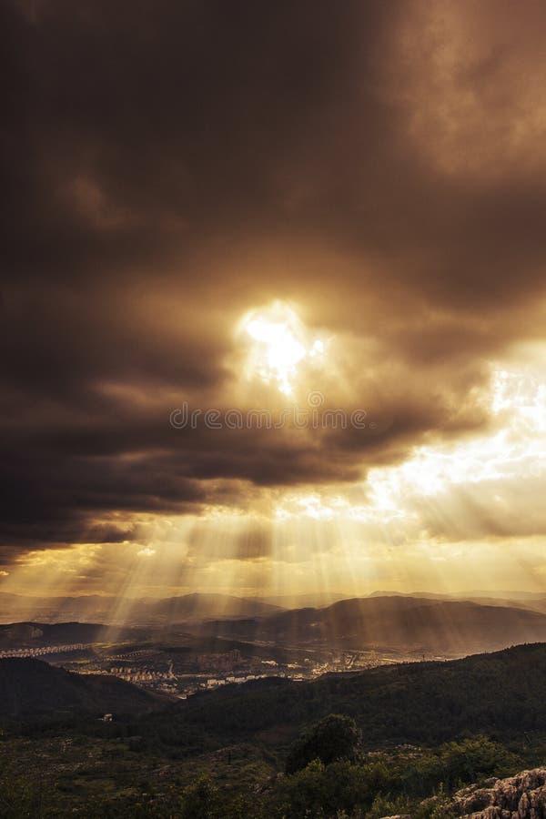 Luz de dios imagen de archivo libre de regalías