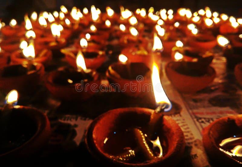 Luz de Diwali fotografía de archivo