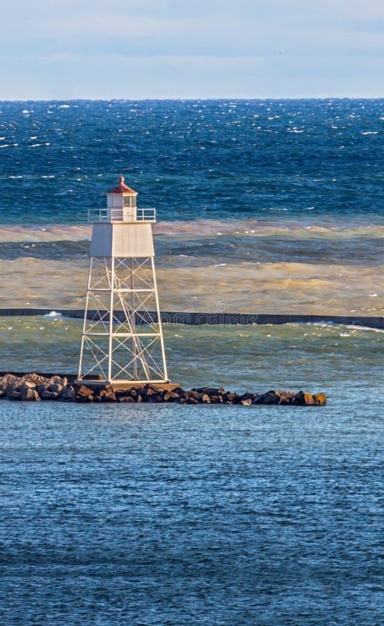 Luz de escala interna do porto grande de Marais fotos de stock