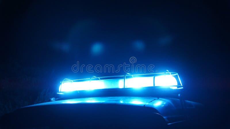 Luz de faro de la policía imagen de archivo