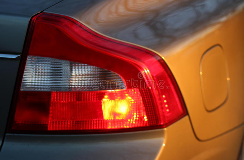 Luz de freio em um carro fotografia de stock
