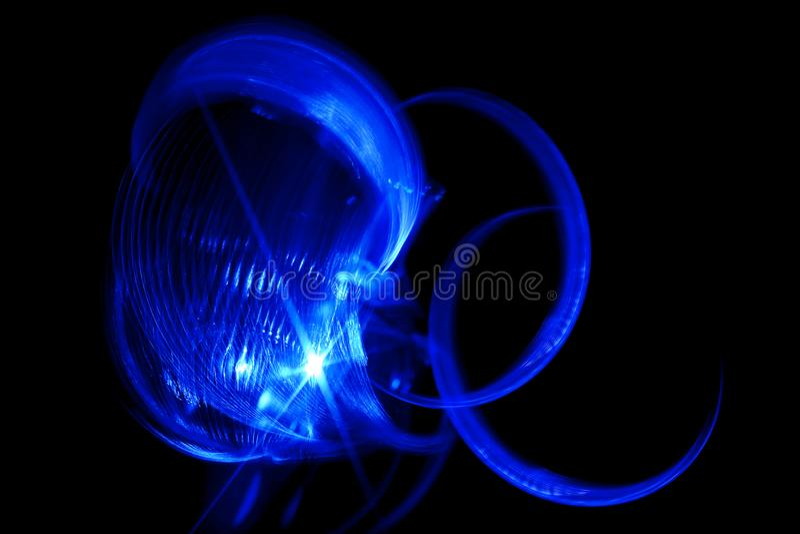 Luz de giro azul fotografia de stock royalty free