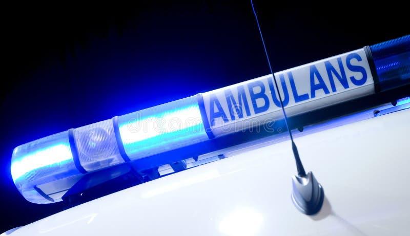 Luz de la ambulancia imagen de archivo libre de regalías