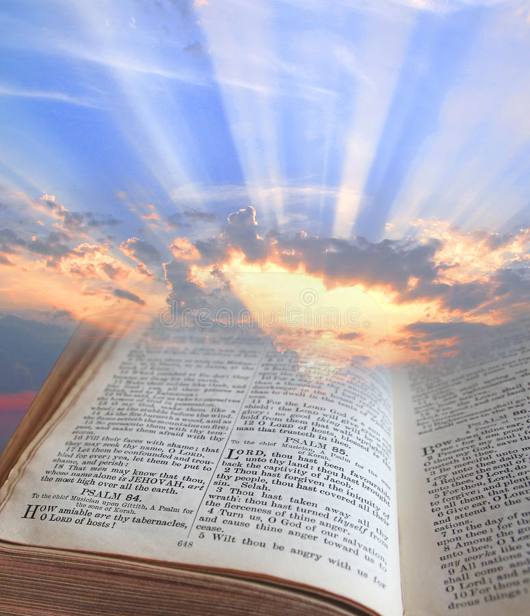 Luz de la biblia fotografía de archivo