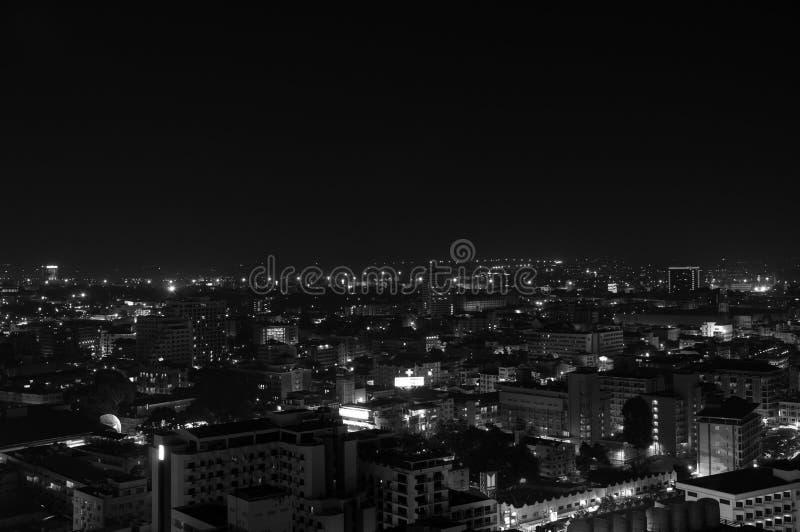 Luz de la ciudad en la ciudad de Pattaya fotografía de archivo libre de regalías