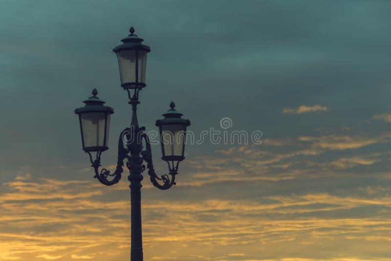 Luz de la ciudad de Venecia imagenes de archivo