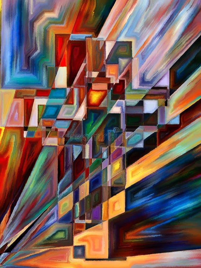 Luz de la cruz stock de ilustración