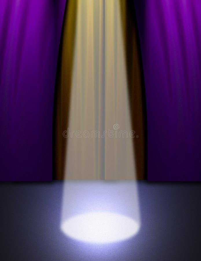 Luz de la etapa libre illustration