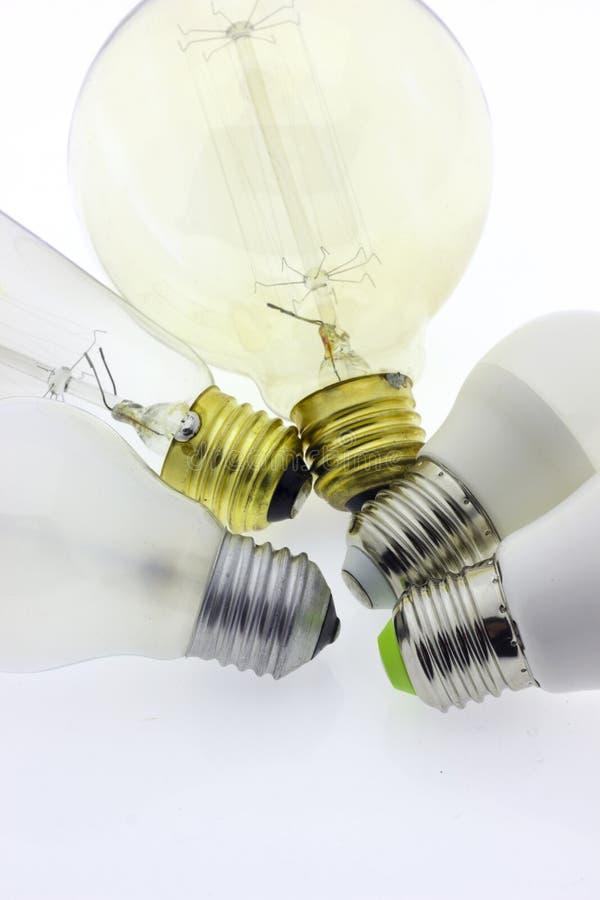 Luz de la lámpara de la bombilla fotos de archivo