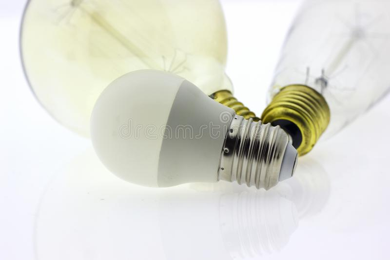 Luz de la lámpara de la bombilla imagen de archivo