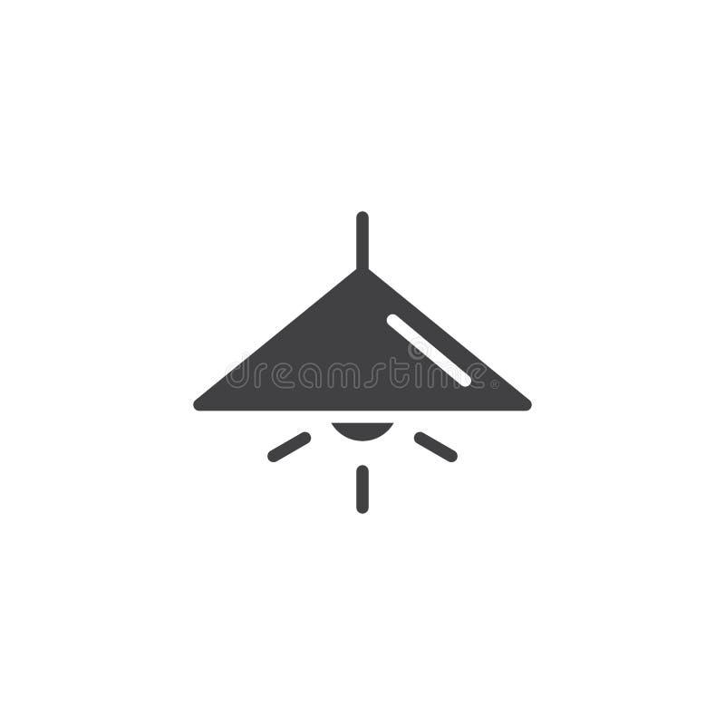 Luz de la lámpara en vector del icono ilustración del vector