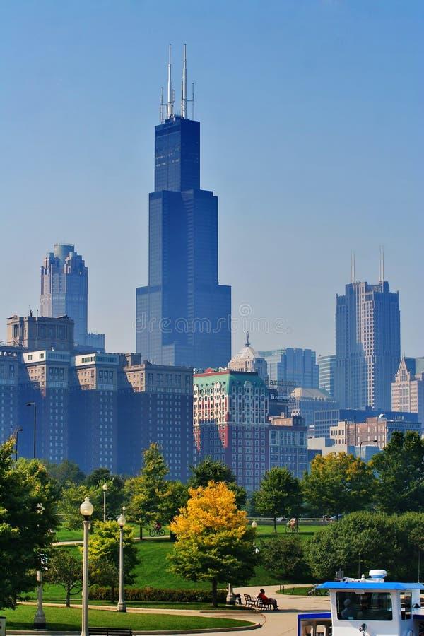 Luz de la mañana de Chicago imagenes de archivo
