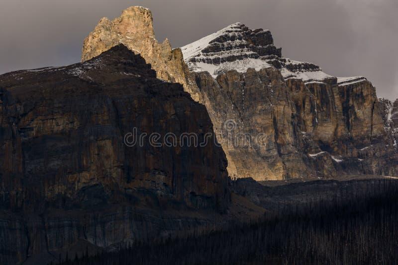 Luz de la montaña fotografía de archivo
